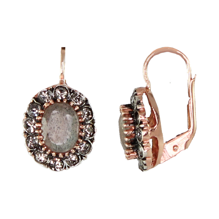Labrodorite Crystal Earrings