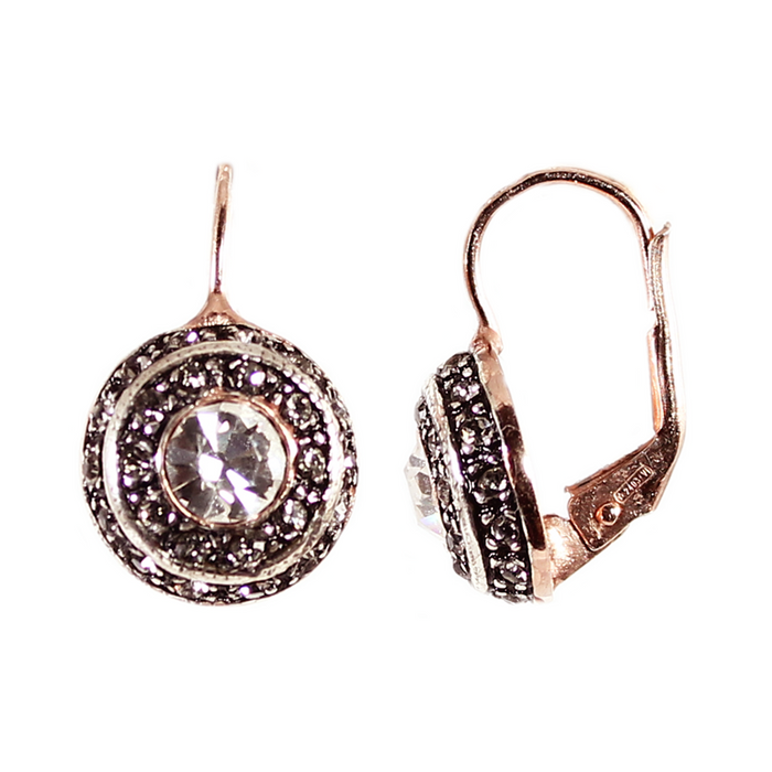 Bright Crystal Round Drop Earrings