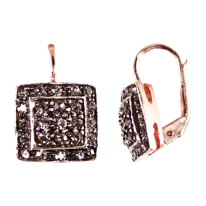 Crystal Square Drop Earrings