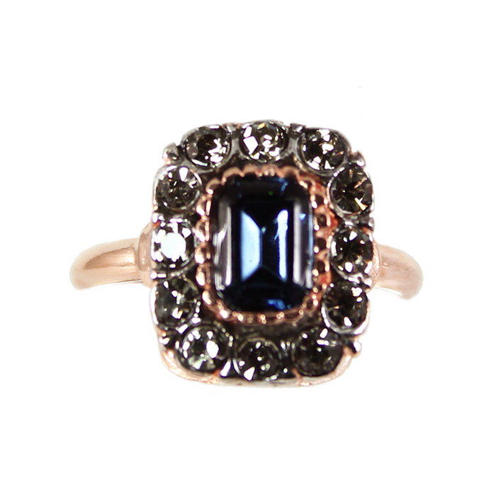 Dark Blue Crystal Ring