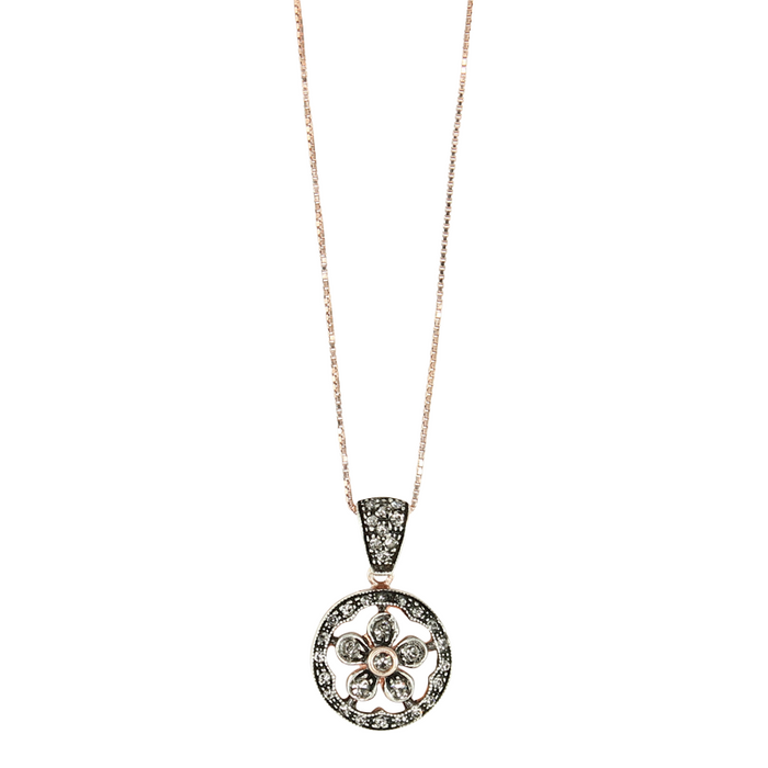 Crystal Flower Drop Pendant