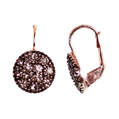 Crystal Round Drop Earrings (Lever)
