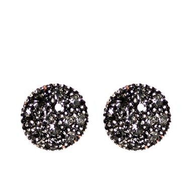Crystal Round Stud Earrings