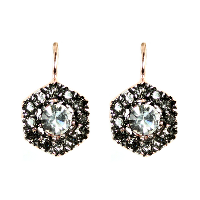 Bright Crystal Drop Earrings