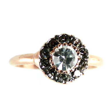 Bright Crystal Circle Ring