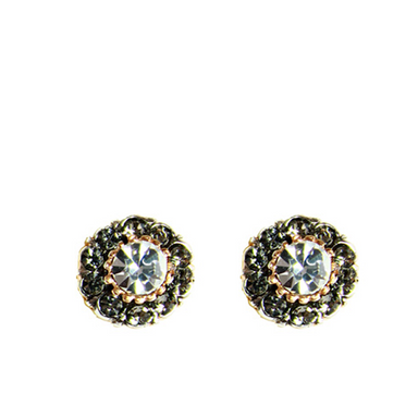Bright Crystal Stud Earrings