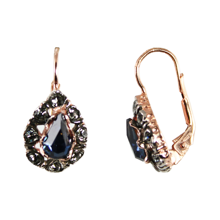 Dark Blue Teardrop Earrings