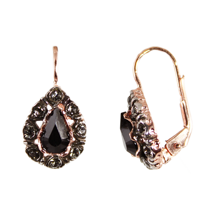 Black Teardrop Earrings