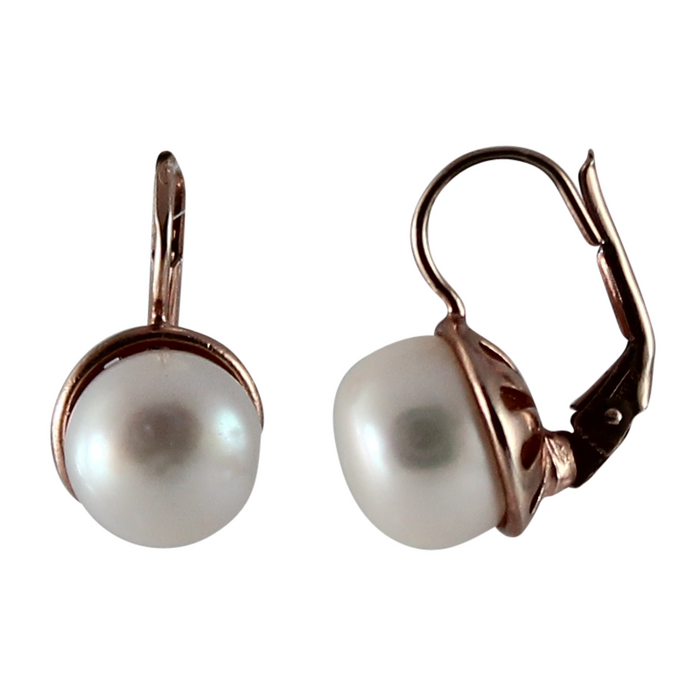 Simple Large Pearl Earrings