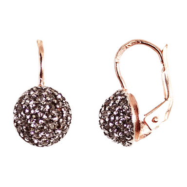 "Crystal ""Ball"" Drop Earrings"