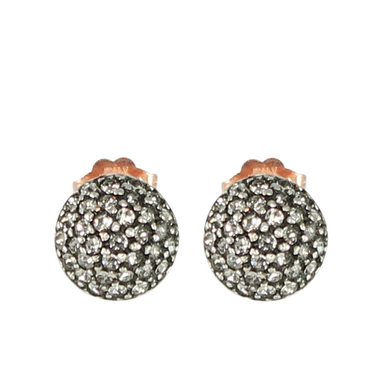 "Crystal ""Ball"" Stud Earrings"