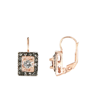 Bright Crystal Square Drop Earrings