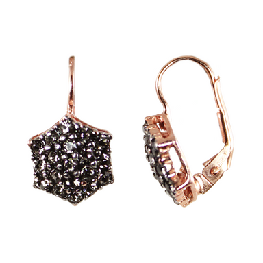 Crystal Hexagon Earrings