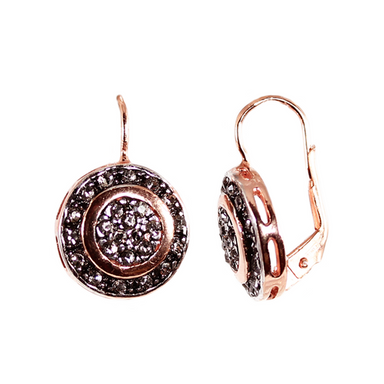 Crystal Disc Drop Earrings