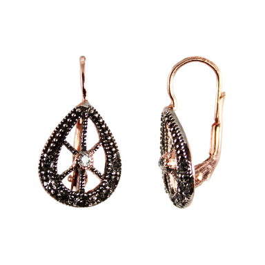 Crystal Cutout Teardrop Earrings