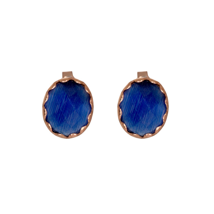 Blue Gemstone Stud Earrings