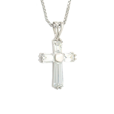Small Cross Pendant with Box Link Chain
