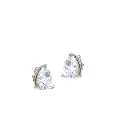 Large Teardrop Stud Earrings