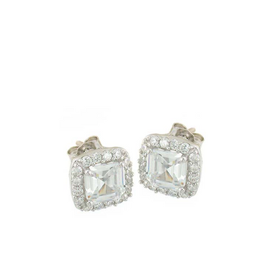 Square Cut Stud Earrings