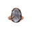 Grey Oval Crystal Ring