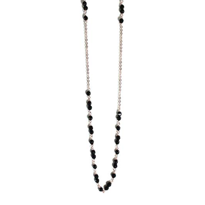 Onyx Small Stone Necklace - 100cm