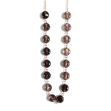 Smoky Quartz Necklace - 70cm