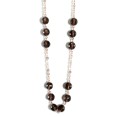 Smoky Quartz Necklace - 50cm