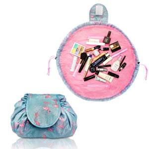 Lazy Makeup Bag Quick Pack Waterproof(Flamingo)