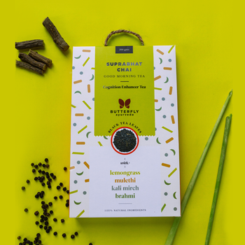 Suprabhat Chai - Assam Black Tea Leaves with Lemongrass, Mulethi, Brahmi, Kali Mirch