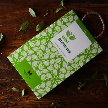 Tulsi Green Tea for detoxifying, relaxation and boosting immunity