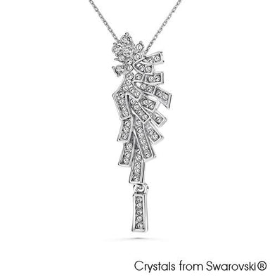 Angel Necklace (Clear Diamond, Pure Rhodium Plated) - Lush Addiction, Crystals from Swarovski®