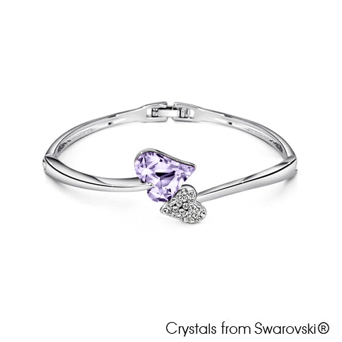 Hestia Bangle (Violet, Pure Rhodium Plated) - Lush Addiction, Crystals from Swarovski®