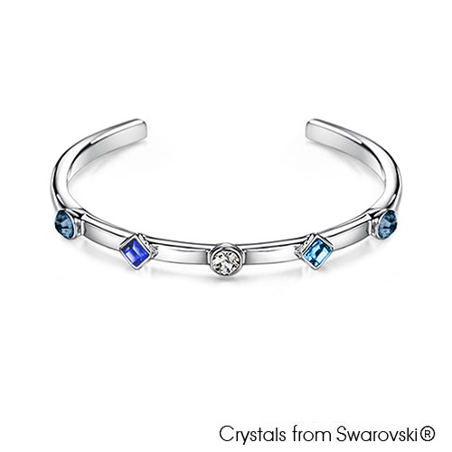Candy Bangle (Montana, Pure Rhodium Plated) - Lush Addiction, Crystals from Swarovski®
