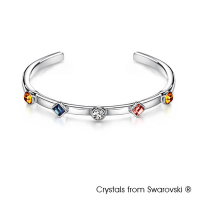 Candy Bangle (Multi-Colour, Pure Rhodium Plated) - Lush Addiction, Crystals from Swarovski®