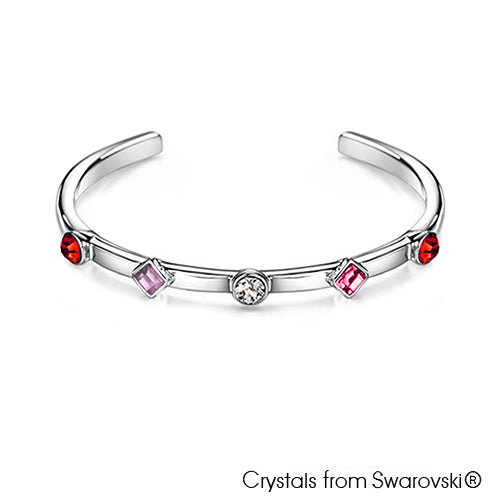Candy Bangle (Rose, Pure Rhodium Plated) - Lush Addiction, Crystals from Swarovski®