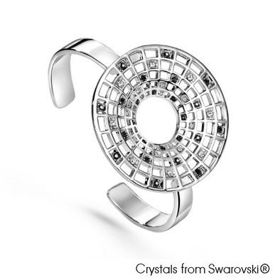 Abundance Bangle Clear Crystal Pure Rhodium Plated Lush Addiction Crystals from Swarovski