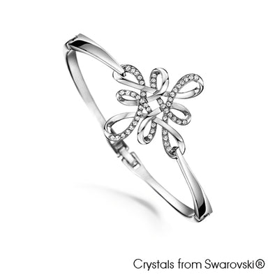 Mystic Knot Bangle Clear Crystal Pure Rhodium Plated Lush Addiction Crystals from Swarovski