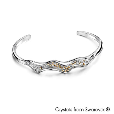 Ocean Bangle (Pure Rhodium Plated) - Lush Addiction, Crystals from Swarovski®