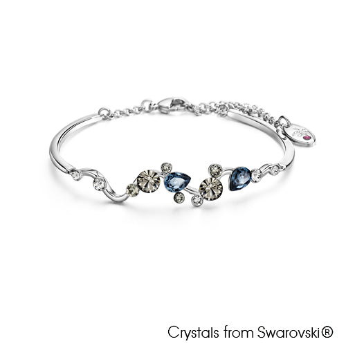 Waterfall Bracelet (Pure Rhodium Plated) - Lush Addiction, Crystals from Swarovski®