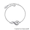 Infinity Bracelet (Clear Crystal, Pure Rhodium Plated) - Lush Addiction, Crystals from Swarovski®