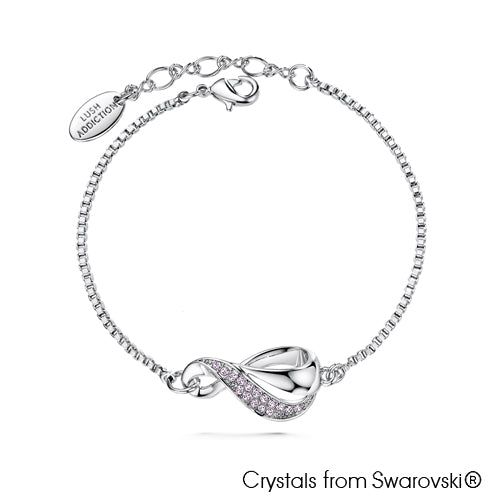 Infinity Bracelet (Violet, Pure Rhodium Plated) - Lush Addiction, Crystals from Swarovski®