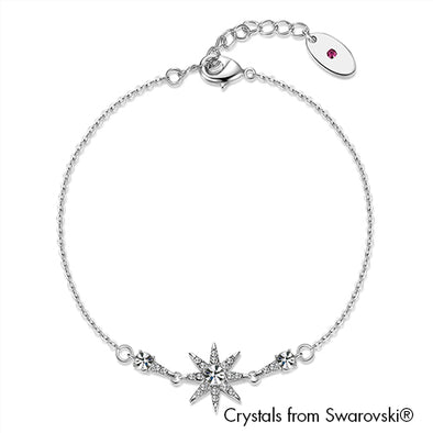 Starry Bracelet (Clear Crystal, Pure Rhodium Plated) - Lush Addiction, Crystals from Swarovski®