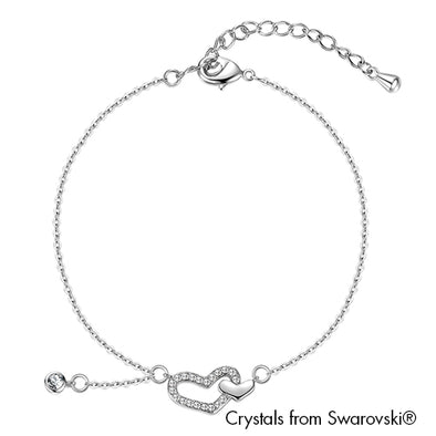 Faith Bracelet (Clear Crystal, Pure Rhodium Plated) - Lush Addiction, Crystals from Swarovski®