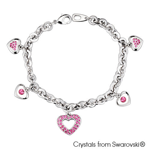 Adora Chain Bracelet (Rose, Pure Rhodium Plated) - Lush Addiction, Crystals from Swarovski®