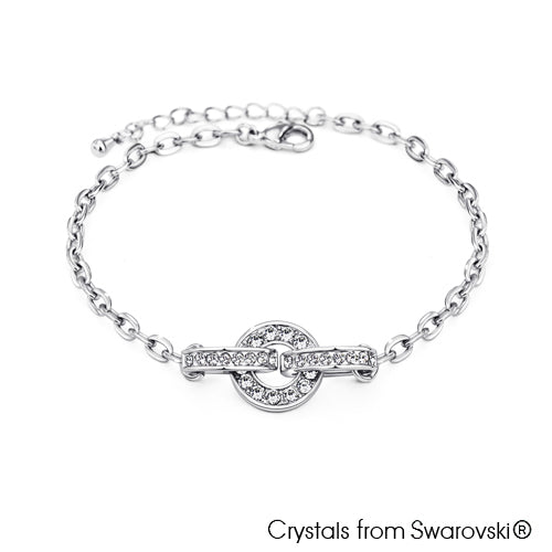 Emmett Chain Bracelet (Clear Crystal, Pure Rhodium Plated) - Lush Addiction, Crystals from Swarovski®