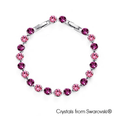 Skylar Bracelet (Amethyst, Pure Rhodium Plated) - Lush Addiction, Crystals from Swarovski®