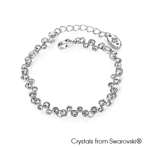Symphony Bracelet (Clear Crystal, Pure Rhodium Plated) - Lush Addiction, Crystals from Swarovski®