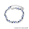 Symphony Bracelet (Montana, Pure Rhodium Plated) - Lush Addiction, Crystals from Swarovski®