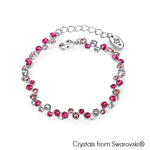 Symphony Bracelet (Rose, Pure Rhodium Plated) - Lush Addiction, Crystals from Swarovski®