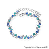 Symphony Bracelet (Sapphire, Pure Rhodium Plated) - Lush Addiction, Crystals from Swarovski®